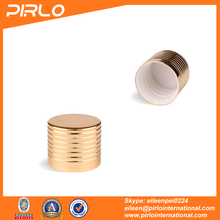 18mm Gold color metal screw cap essential oil glass bottle use aluminum lid 18/410 metallic screw on lid