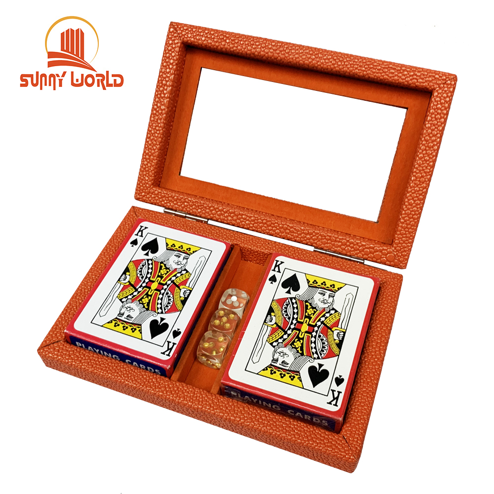 Su misura Premuine Poker chip set con custodia in pelle
