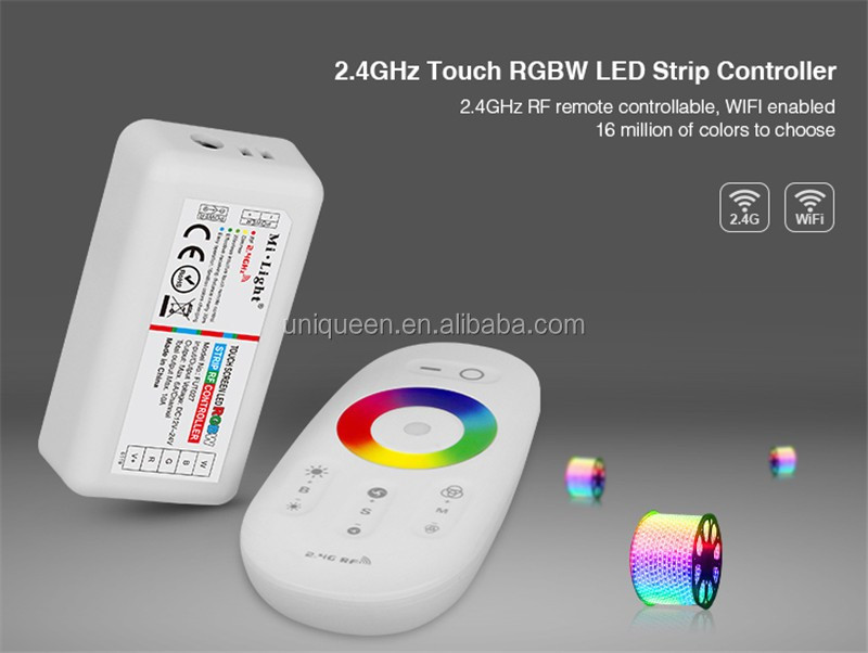 2017 Hot Fut027 2 4g Rgbw Led Controller Best Selling Touchable Led Strip  Rgbw Controller With Full Touch Screen 2 4g Rf Remote - Buy Best Selling