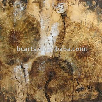 Shenzhen China Wholesale Heavy Textured Golden Abstract