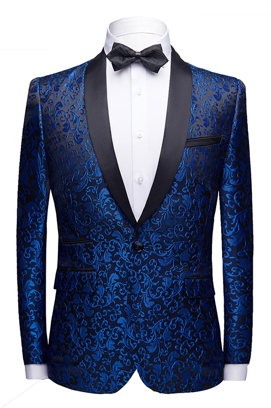 2019 Nieuwe Ontwerp Mannen Mode Slim Fit Pak 2 Stuk Mannen Slim Ceremonie Business Casual Pak Volledige Jurk Borduren patroon