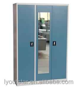 Inde Portes Trois Point Serrure Kd Armoire Placard Avec Miroir - Porte placard coulissante avec serrure trois points