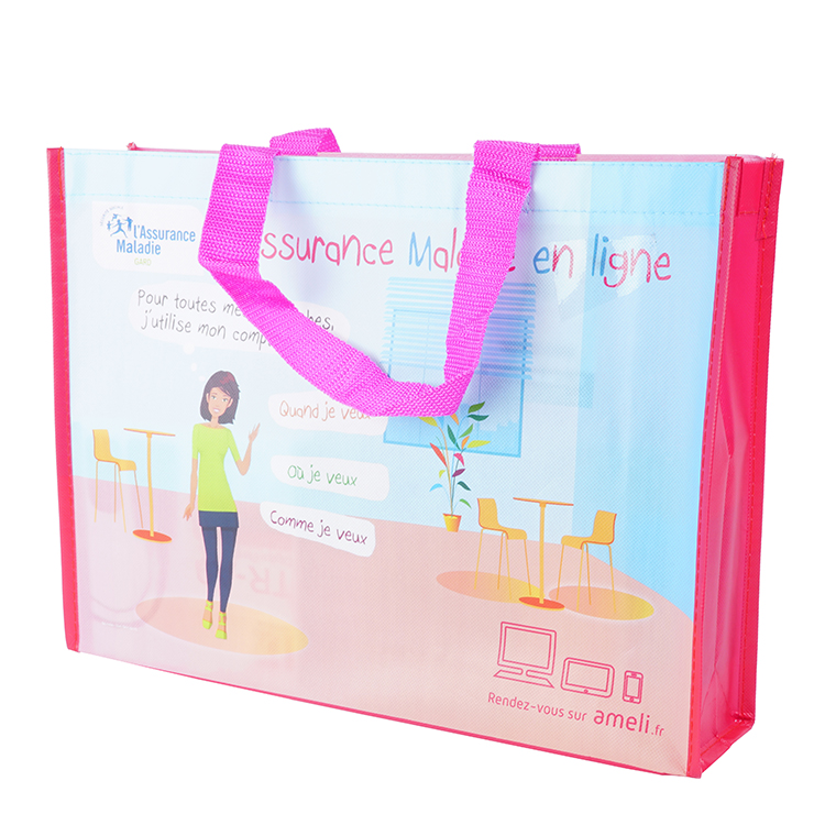Wholesale Customized Printed Multicolor Lovely Pp Non Woven Tote Bag