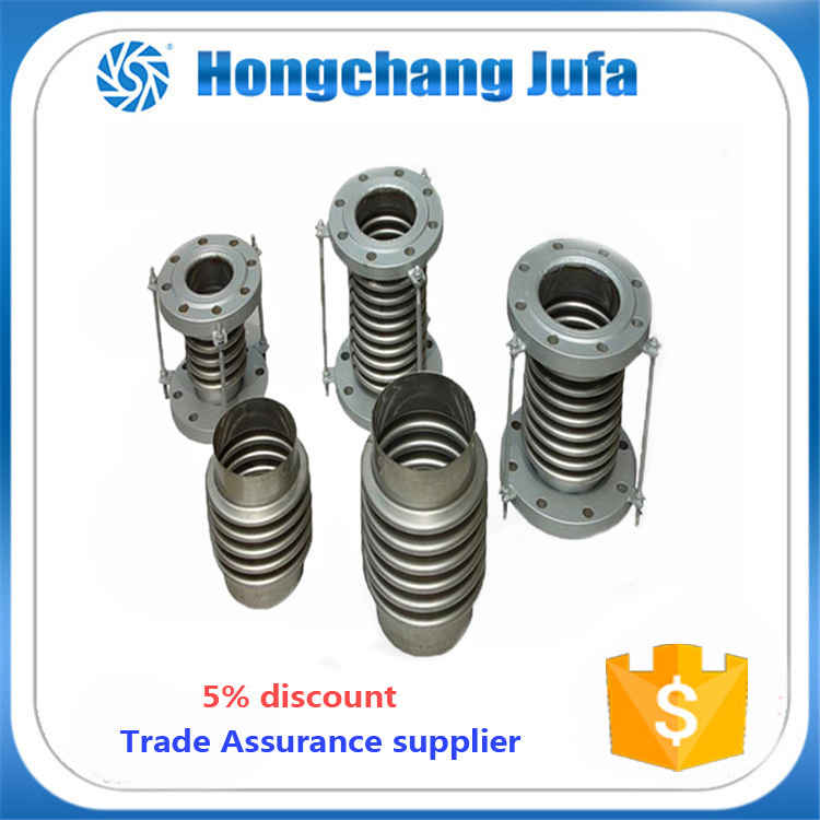 SS304 pipe concrete metal corrugated reinforced bellows expansion joint