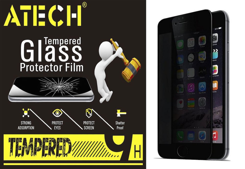 """ATECH Anti-Spy Premium Privacy Tempered Glass Screen Protector Film 9H 0.3mm 2.5D Ballistic Glass Anti-Scratch Shatterproof Reduce Fingerprint Screen Protection Guard for iPhone 6S/iPhone 6 4.7"""""""
