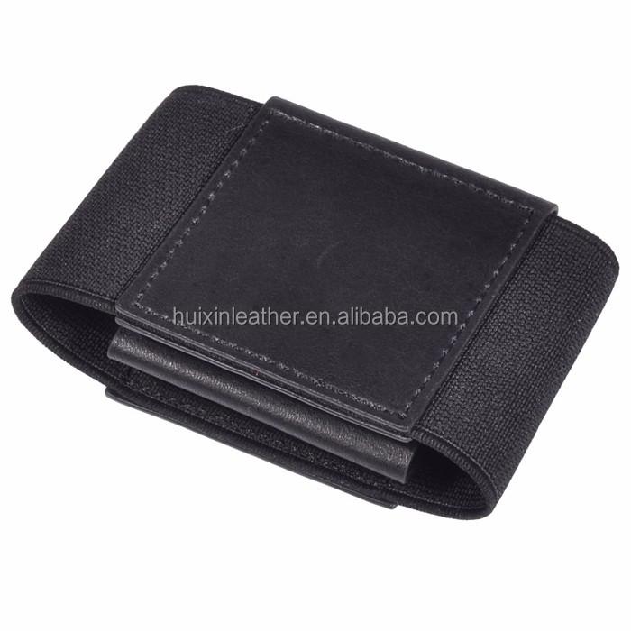 Elastic Pocket Card Holder Slim Genuine Cow Leather Wallet For ...