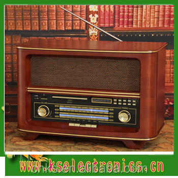 vintage radio with usb sd cd output and cd player buy radio old style am fm cb radio am fm. Black Bedroom Furniture Sets. Home Design Ideas