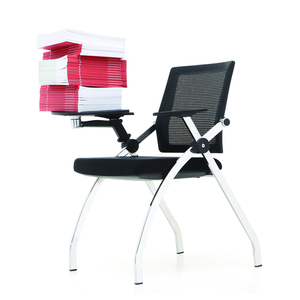 Business style custom logo training room chairs with tables attached