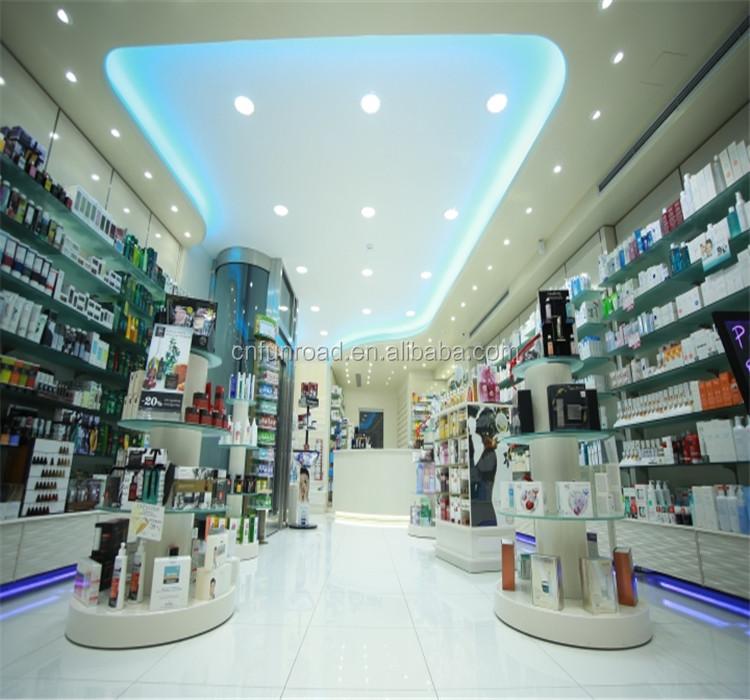 interior design pharmacy store display modern retail store fixtures