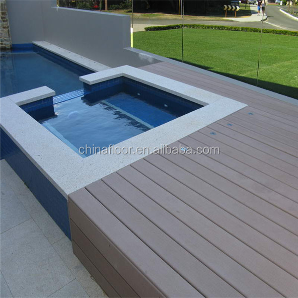 Waterproof for swimming pool eco-friendly solid composite WPC outdoor decking