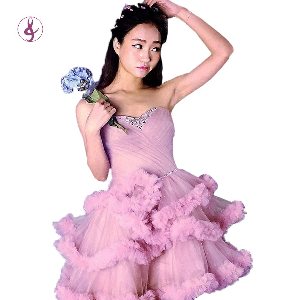 Venta al por mayor vestido corto de tul prom-Compre online los ...