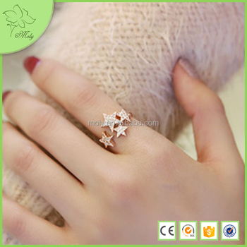 Wholesale 18k Fancy Gold Ring Designs For Girls Unique Jewelry