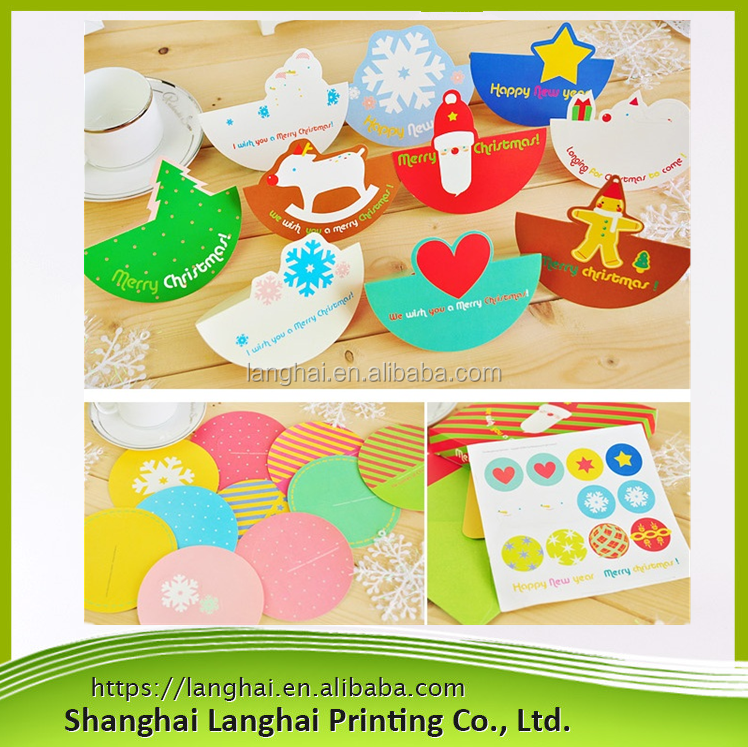 2017 High Quality China Suppliers New Products Christmas Greeting Cards With Envelope/High End Recyclable Durable Christmas Card