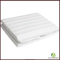 100% Egyptian Cotton 300TC Stripe Hotel Flat Sheet
