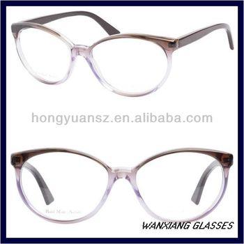 2656ec6893e6 Violet Burgundy Nice Eyeglasses Optical Frame Subtle Cat Eye Shape ...