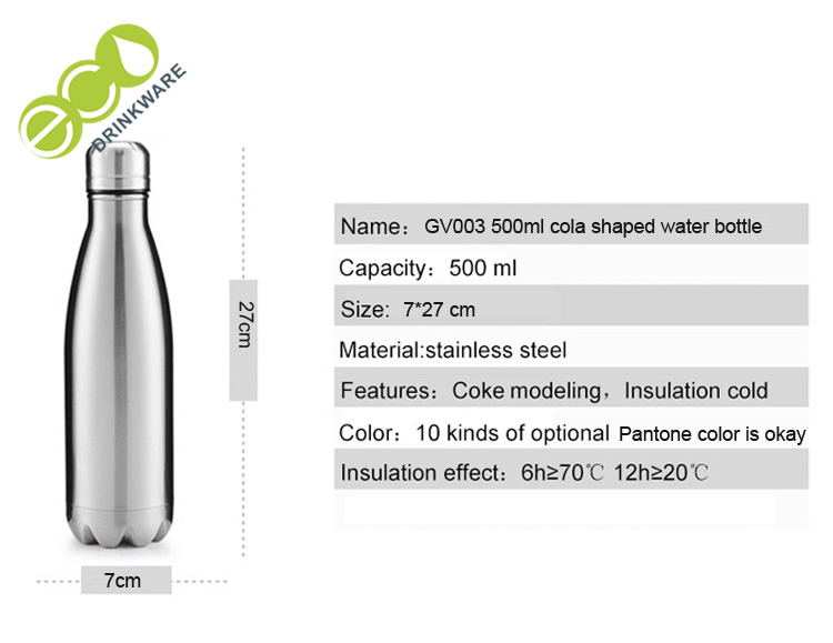 No minimum Eagle future double-wall 18/8 stainless steel thermos thermal sports water flask /cola shape bottle vacuum flask
