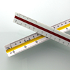 TR32525 Triangle Scale Ruler Measure Tool Scale Triangular Ruler for Architects Landscape Architects Engineer