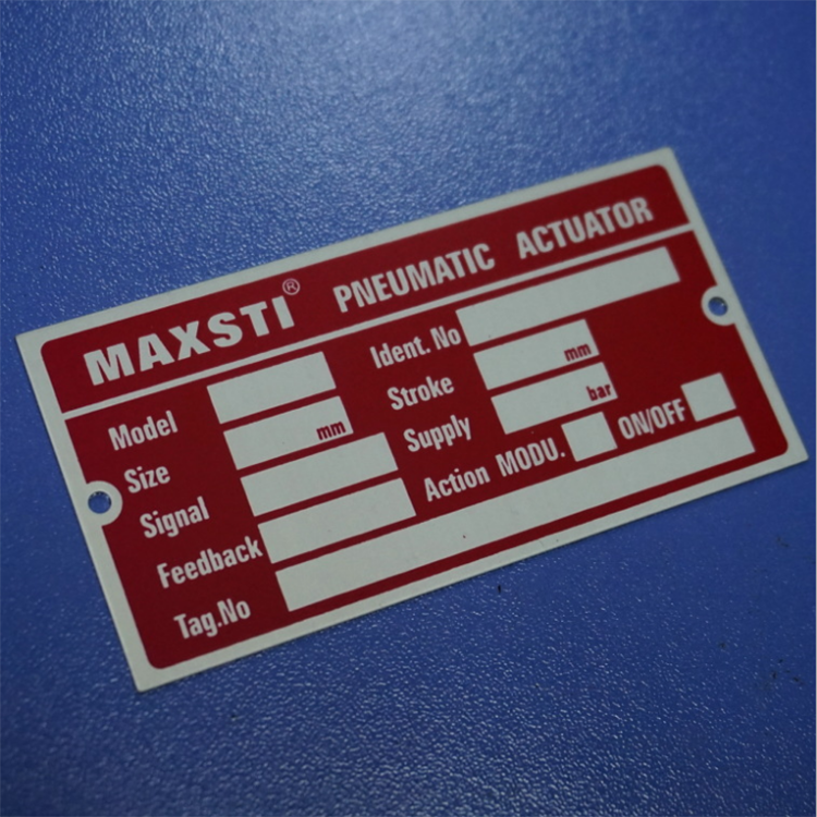 JingYiDa Manufacture High Quality Acid Resistant Aluminum Stainless Steel Metal Nameplate Sticker Label Printing