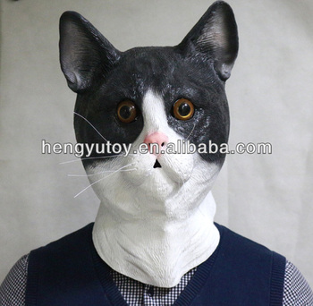 Adult Latex Costume Theater Prop Head Rubber Cat mask & Adult Latex Costume Theater Prop Head Rubber Cat Mask - Buy Cat Mask ...