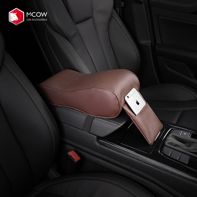 Mcow Auto Accessories Universal PU Leather <strong>Car</strong> Armrest <strong>Center</strong> <strong>Console</strong> Arm Rest Seat Box Padding Protective Case