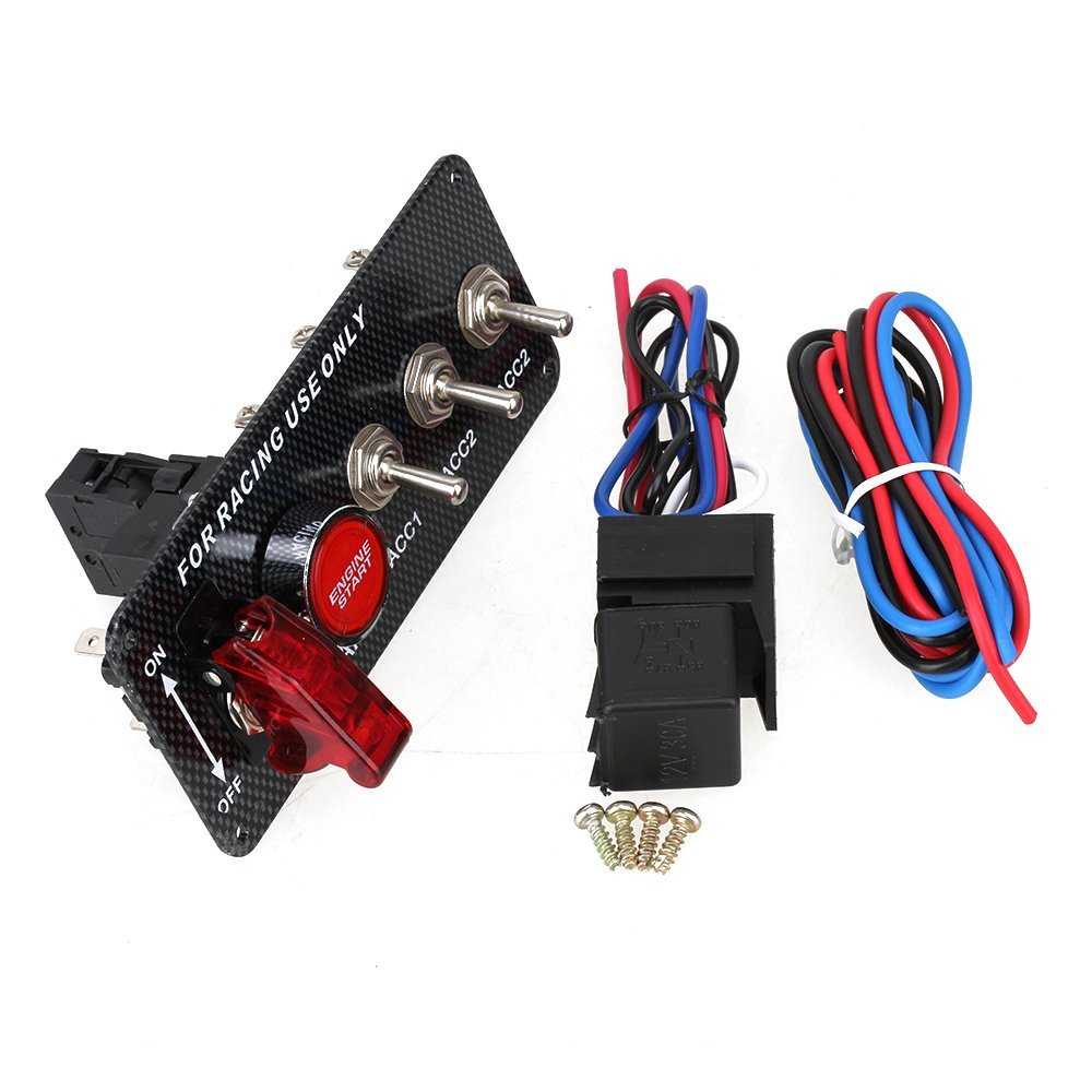 Buy Ignition Switch Panel Led Toggle Engine Start Push Button Racing Wiring Bopu Dc12v 30a For Car