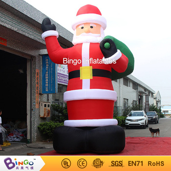hot sale integrated oxford cloth christmasoutdoor inflatable santa claus 20ft high for square with - Christmas Outdoor Inflatables