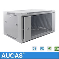 Aucas 6U 9U wall mounted network cabinet Electrical Enclosure IT Server Rack Factory Price