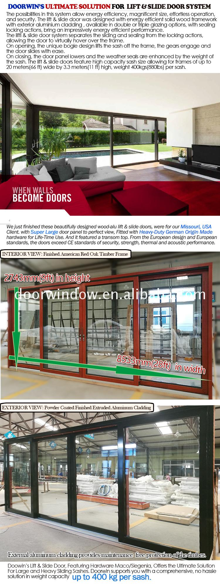 Factory made sliding security door rollers porch doors patio with tinted glass