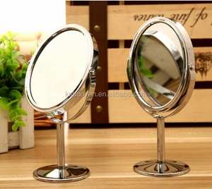 Beauty metal mirror Makeup desk small mirror for makeup
