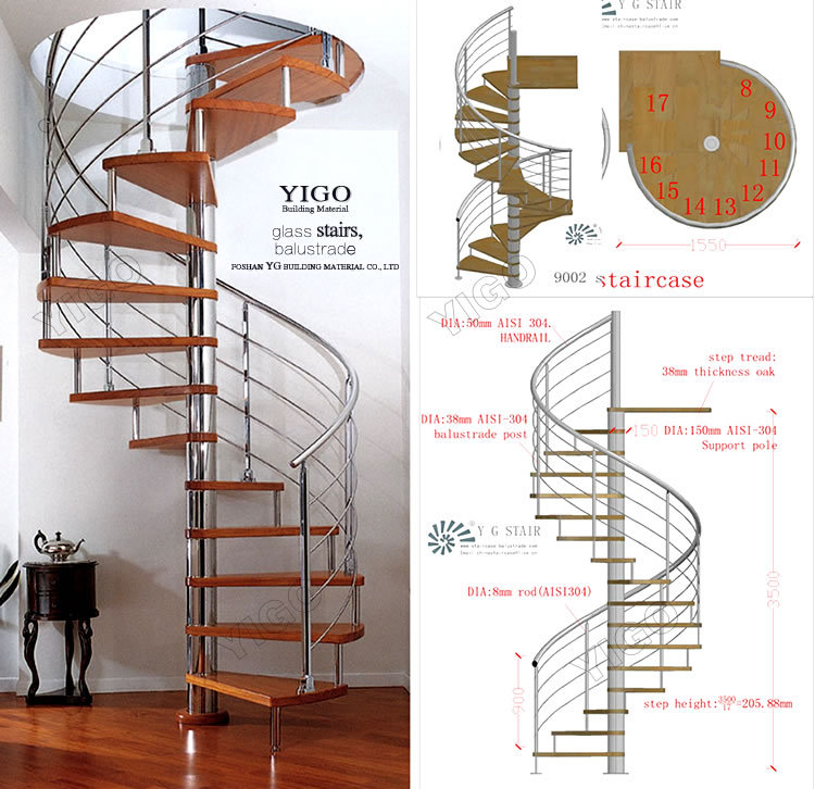 Aluminum spiral stairs spiral staircase dimensions buy Spiral stair details