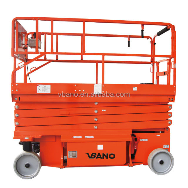 500 กก. 8 m 10 m 12 m 14 m 16 m คุณภาพสูง self propelled scissor lift aerial ไฟฟ้า scissor lift