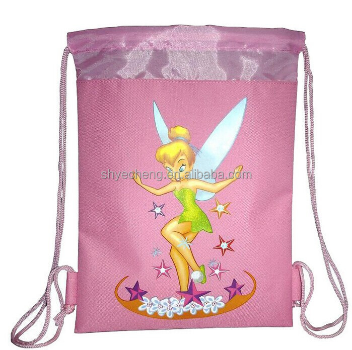 recyclable promotion 420D drawstring cosmetic bag factory