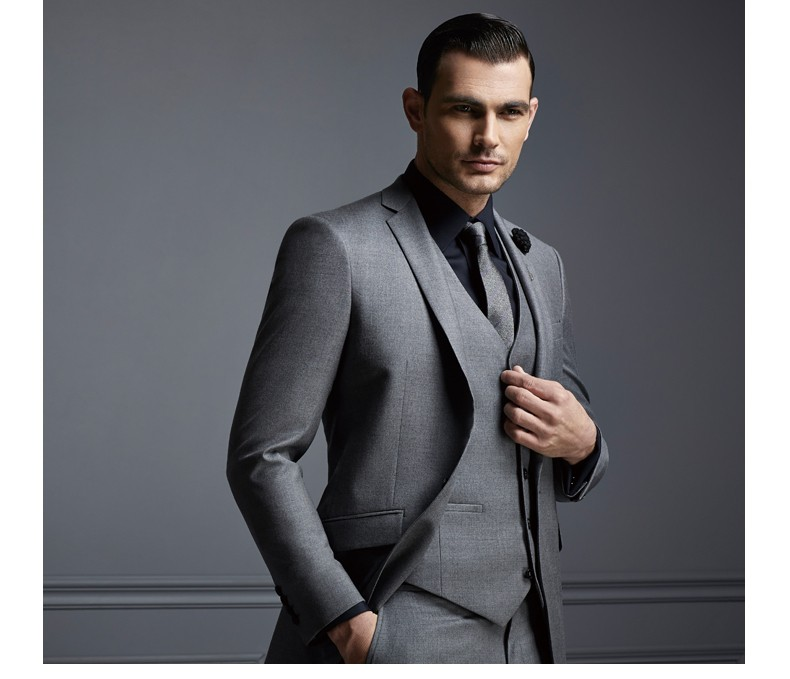 Top Quality Custom Style Mens Suits Of Gray Colour/latest Design