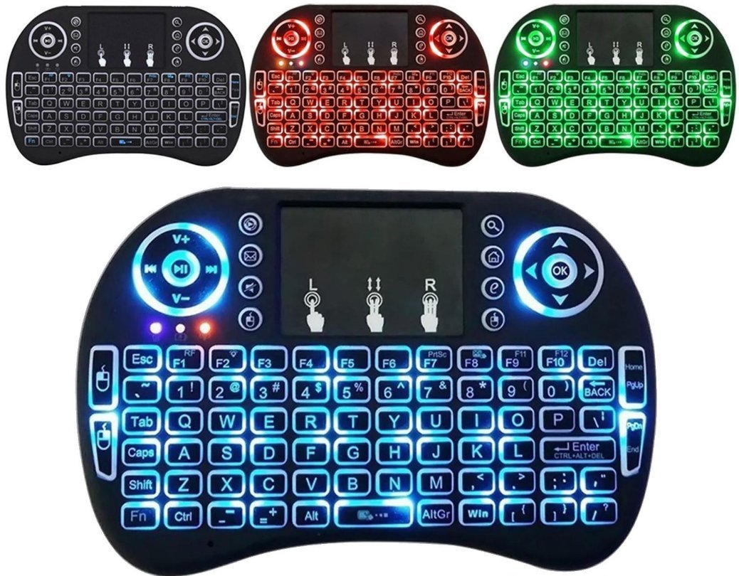 SaferCCTV(TM) 2.4G 3 Colors Backlit Backlight Mini i8 Wireless Touchpad Keyboard Air Mouse for PC Pad Android TV Box Google TV box Raspberry PI PS3/ Xbox360 HTPC/IPTV Projector