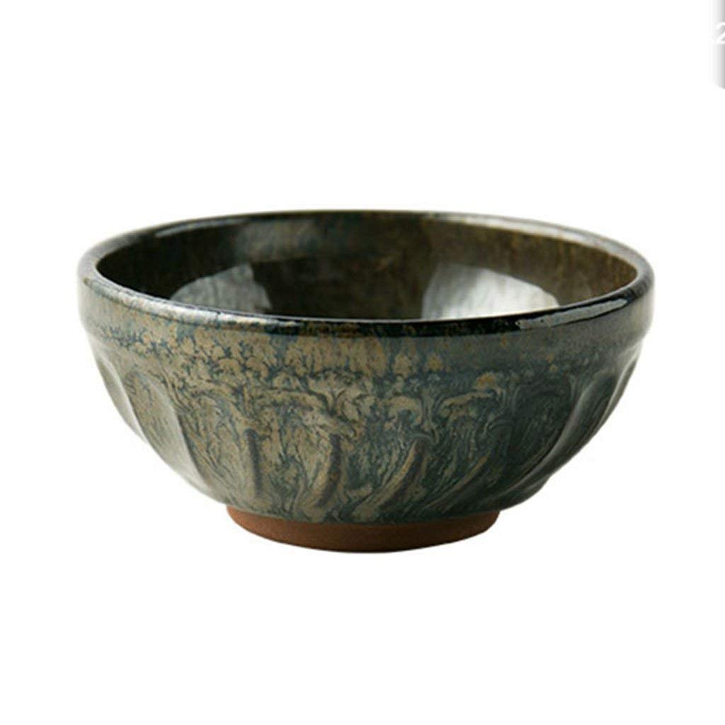 Ceramic Soup Bowls Rice Bowls Japanese style Noodle Bowls Pasta Bowls Bowls blue glaze (Color : Brown)