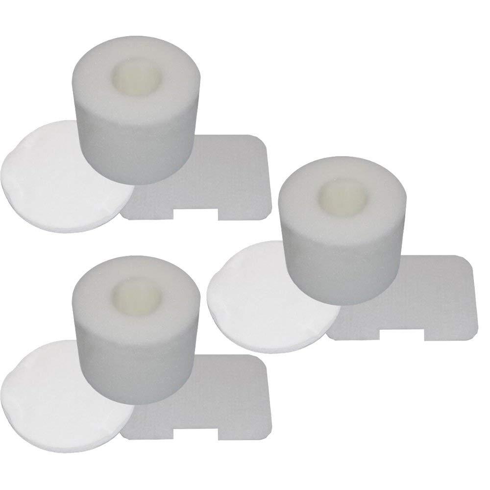 Mumaxun Replacement XFF36 Foam & Felt Filter Set Kit for Shark Navigator Upright NV36, NV36A, NV42, NV44, NV46, NV46C, UV410, UV402, NV44, NV26 Etc(3 Set)