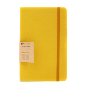 Wholesale Classic Linen Cloth Hardcover Custom Paper Notebook and Lemon Colorful Journals with Inner Thick Paper Made in China