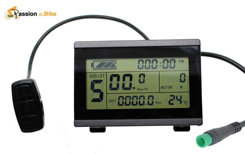 buy passion ebike 24v 36v 48v intelligent lcd control panel lcd display. Black Bedroom Furniture Sets. Home Design Ideas