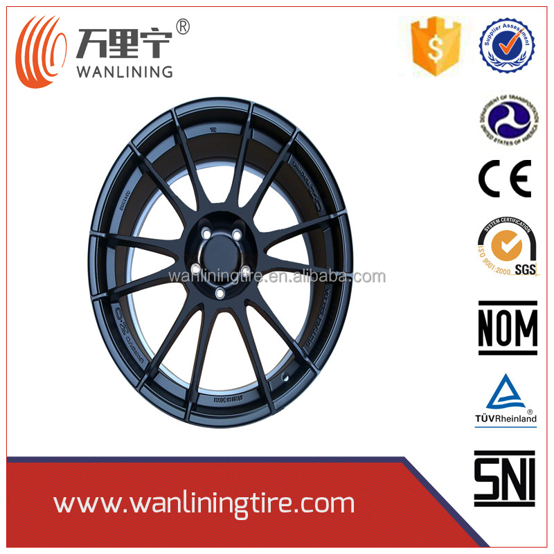 Hot sale 17*7 new design car alloy wheels with low price