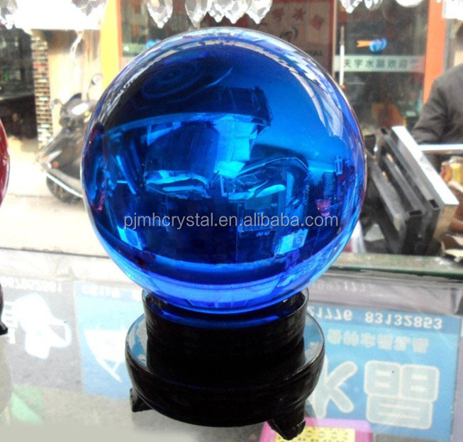 top quality blue color clear crystal glass ball MH-SQ118