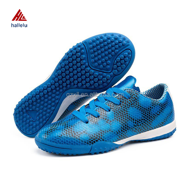 Size 31-39 Kids Sythnetic PU Breathable Soccer Shoes Turf Rubber Outsole Football Shoes