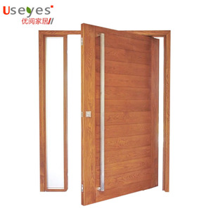 Luxury revolving new style wooden pivot entrance door design