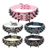 Pet Accessories Hot Selling PU Leather Rivet Spiked Adjustable Dog Collar