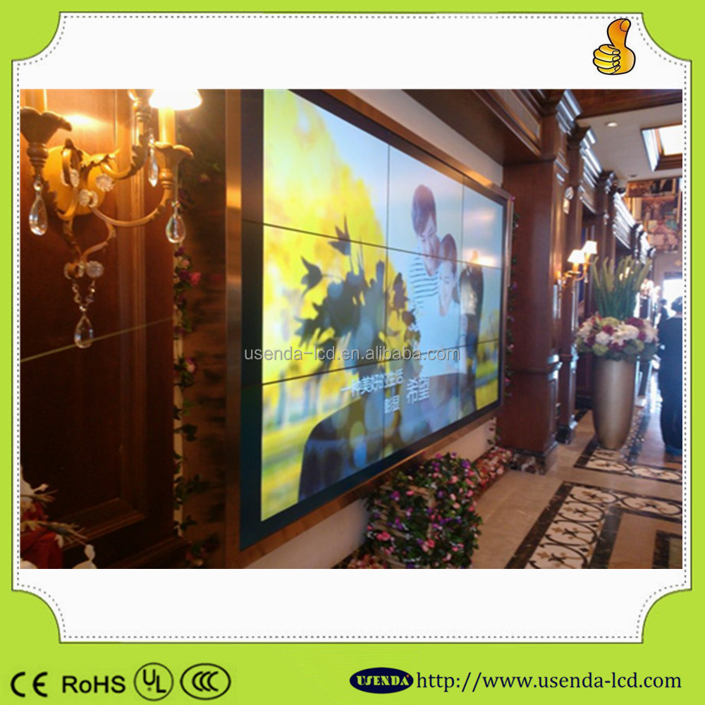 46inch frameless lcd monitor with video wall with anrrow bezel 5.3mm video wall