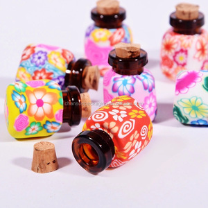 empty 1 ml handmade fimo clay glass perfume bottles