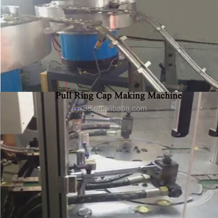 Ring Pull Cap Maken Lijn Machine, Ring Pull Fles Cap Making Machine
