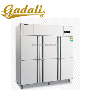 Factory price 6 door 304 stainless steel used supermarket refrigerator and freezer