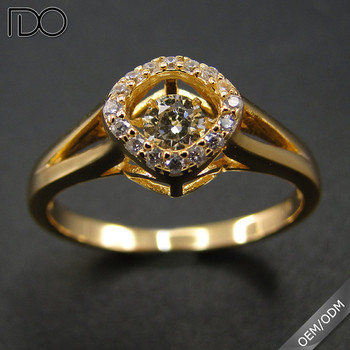 Top grade dancing diamond ring wedding