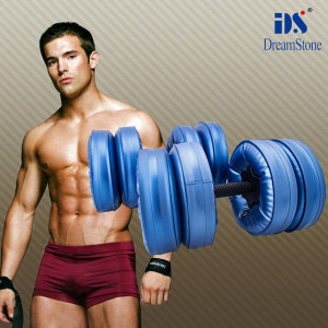 new products on china market ! body fitness 4 bags / 8 bags water filled dumbbells