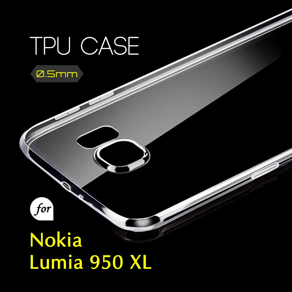 0.5mm Ultra Thin TPU Transparent Clear Protective Case for Nokia Lumia 950 XL